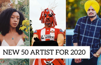 Sidhu Moosewala 50 New Artists for 2020