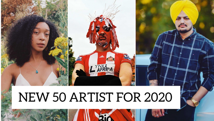 Sidhu Moosewala 50 New Artists for 2020