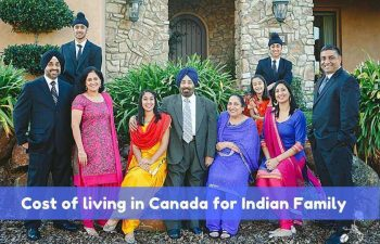 Cost of living in Canada for Indian Family